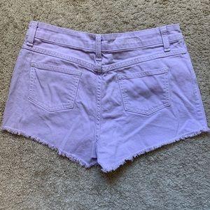 LF Carmar High-Waist Shorts - Light Purple 28
